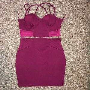 Hot Pink Two Piece Dress - M